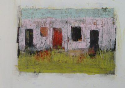 """Mischtechnik/Acryl 10 """"fields"""" (2014) 30x45  (Preis auf Anfrage)"""