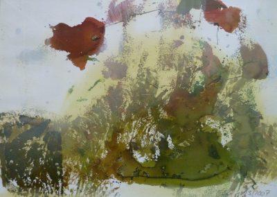 """Aquarell 8 """"Blumen"""" (2007) 50x70 (Preis auf Anfrage)"""