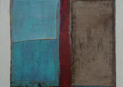 Mischtechnik/Acryl 14 (2012) 100x100 Schattenfuge  (Preis auf Anfrage)