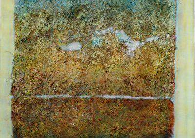 Mischtechnik/Acryl 20 (2011) 80x80  Schattenfuge  (Preis auf Anfrage)