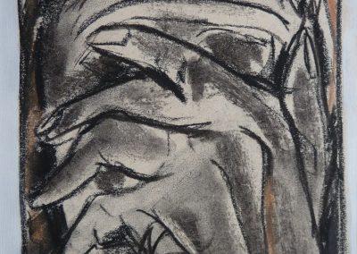 """Zeichnung 1 """"Alte Frau"""" (2008) 20x30 (Preis auf Anfrage)"""