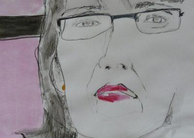"""Zeichnungen 3 """"Frau"""" (2008) (Preis auf Anfrage)"""