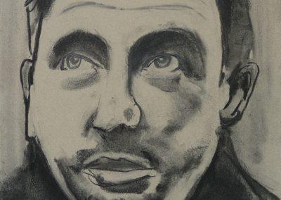 """Zeichnung 5""""Junger Mann 2""""  (2008) 20x30 (Preis auf Anfrage)"""