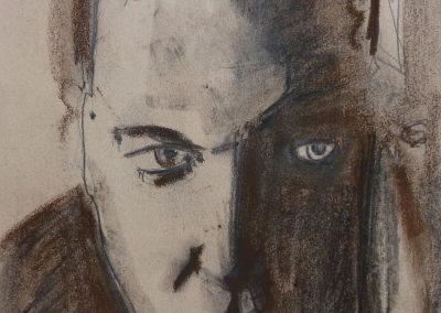 """Zeichnung 6""""Junger Mann 3""""  (2008) 20x30 (Preis auf Anfrage)"""