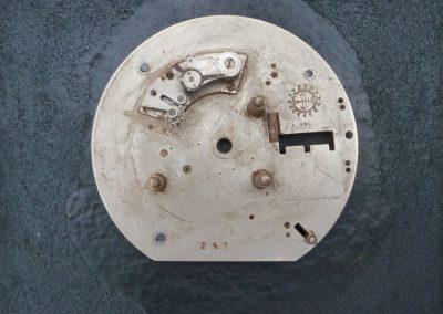 Metall auf Holz 20 x 20 cm