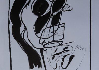 """Zeichnung 11 """"Hommage W. Ströher"""" (2017) 20 x 29"""