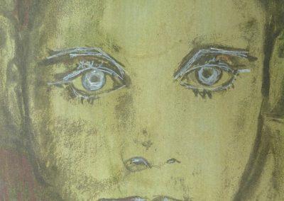 """Zeichnung 2 """"Junge Frau"""" (2008) 20x30 (Preis auf Anfrage)"""