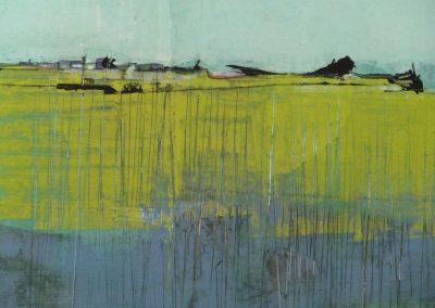 """Mischtechnik/Acryl 9 """"fields"""" (2014) 30x45  (Preis auf Anfrage)"""