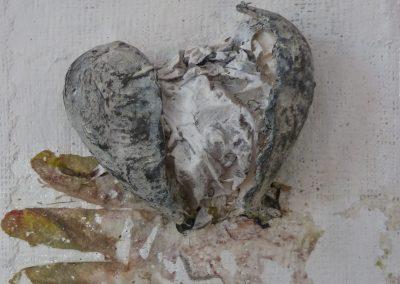"""Kleine Formate 11 """"Herz 3"""" (2015) 20x20 (Preis auf Anfrage)"""